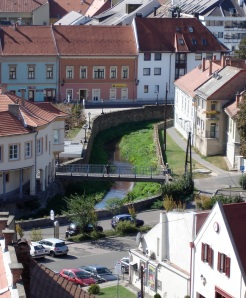 Cute stream running through Eger