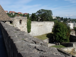 View from the wall of Eger Castle