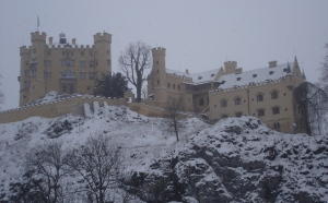 Hohenschwangau Castle in the snow