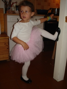 Avery in her Halloween tutu