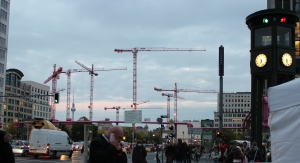 Cranes in the Berlin skyline