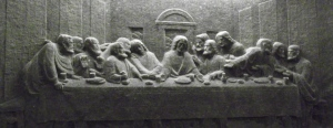 The last supper in St. Kinga's chapel